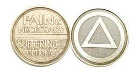"Bronze ""Suffering is Optional"" Affirmation Medallion"