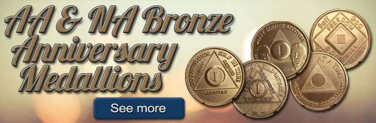 AA & NA Bronze Anniversary Medallions