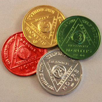 AA Coins | AA Chips | AA Tokens | Recovery Medallions