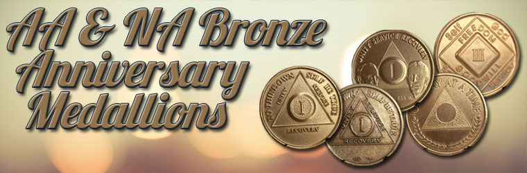 Group Ordering for AA & NA Bronze Anniversary Medallions