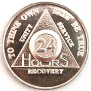 Cheap 24 hour sobriety coin