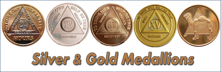 Silver & Gold AA Medallions