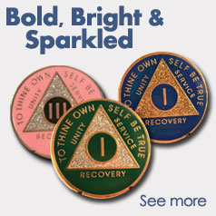 Bold, Bright and Sparkled AA Medallions