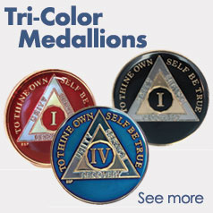 Tri-Color AA Medallions