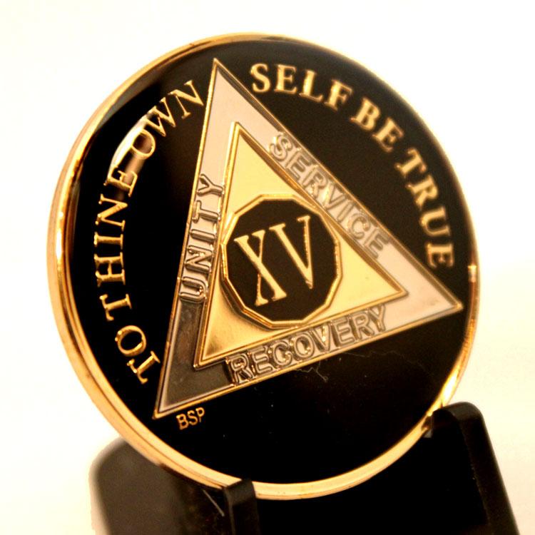 Aa Black Silver Amp Gold Aa Medallion