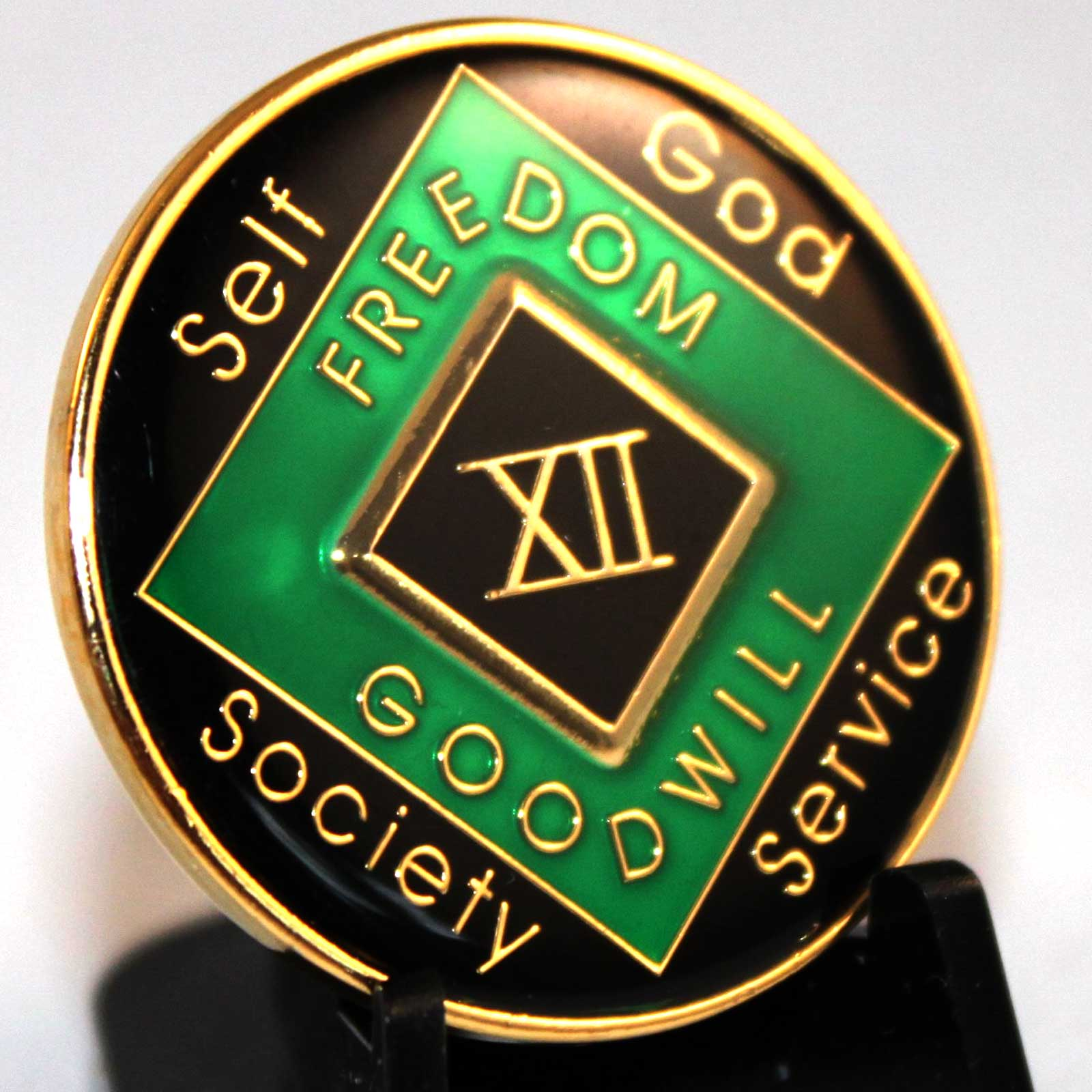Green & Black NA Medallions