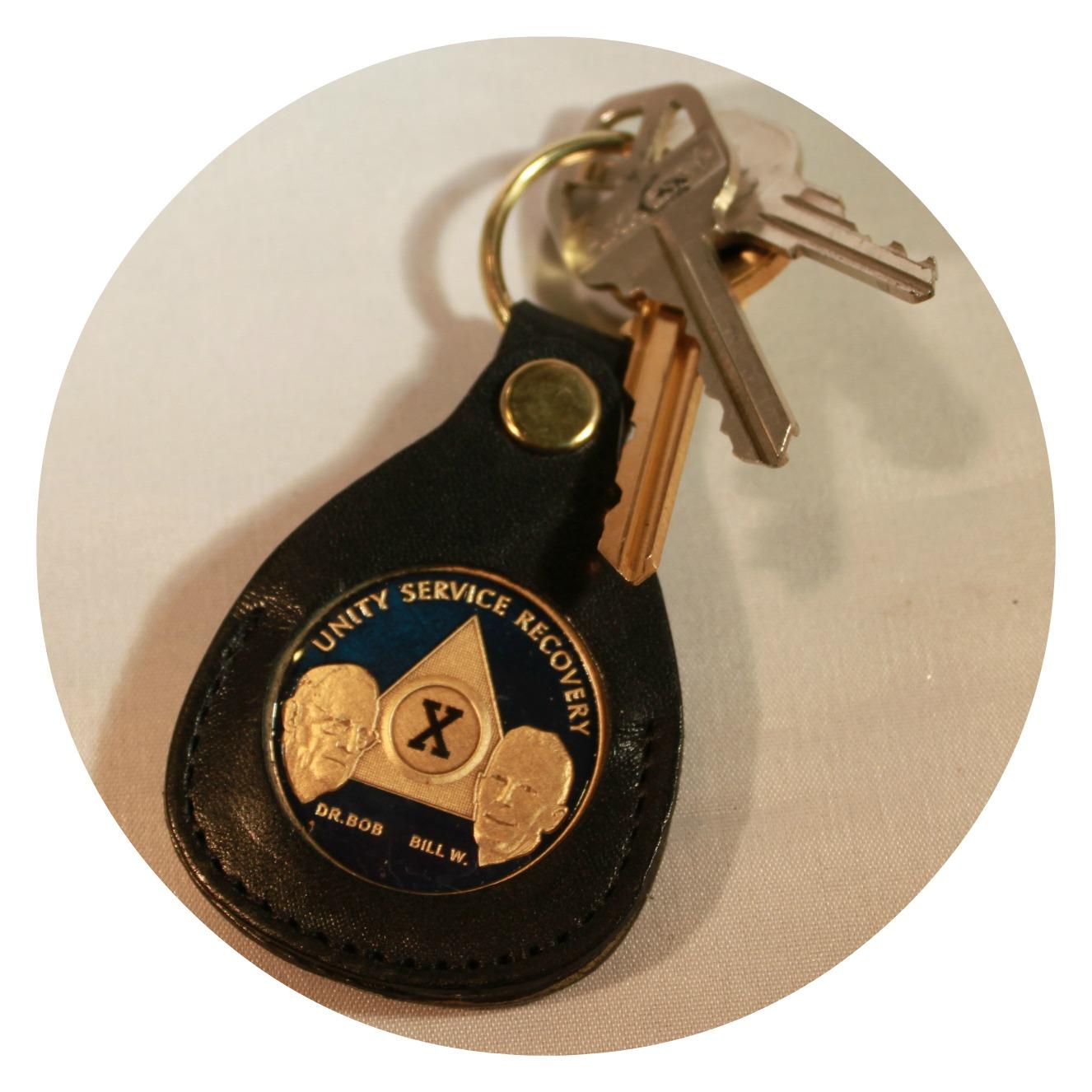 AAA Leather Key Tag