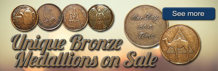 Unique Bronze AA Medallions at a special sale price