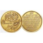 Women in Recovery Bronze AA Medallion with Rose