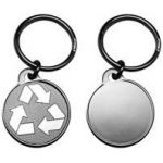 Recycle Key Chain Nickel Plated