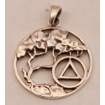 Serenity Tree Sterling Silver Unity Pendant