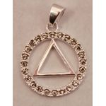 "3/4"" Unity Pendant Sterling Silver Cubic Zirconia"