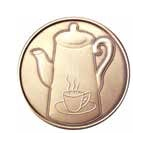 Coffee Pot Bronze AA Medallion -Roll of 25