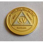 Bi-Plate Gold & Silver AA Medallion