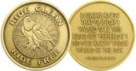 Ride Free Biker Medallion with Eagle