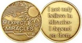 "AA Bronze ""Expect Miracles"" Medallion"