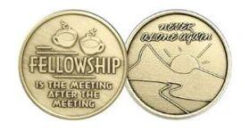 """Bronze """"Fellowship"""" Affirmation Medallion"""