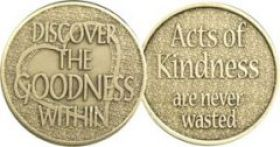 Discover the Goodness Within Affirmation Medallion