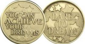 You Can Achieve Your Dreams AA Medallion
