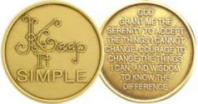Serenity Prayer Affirmation Medallion
