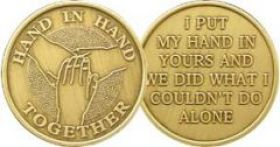 """Hand In Hand Together"" AA Affirmation Chip"