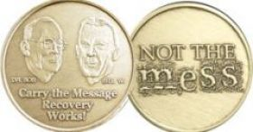 """""""Carry the Message"""" Affirmation Medallion"""