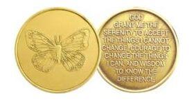 Butterfly Serenity Prayer Affirmation Medallion