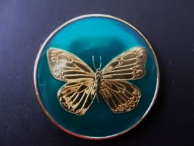 Blue Butterfly Sobriety Coin