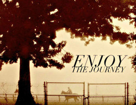 Greeting Card - Enjoy The Journey