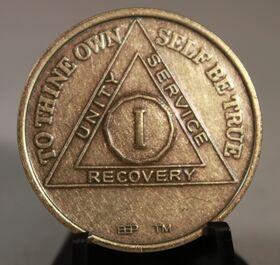 Bronze AA Birthday/ Anniversary Medallion