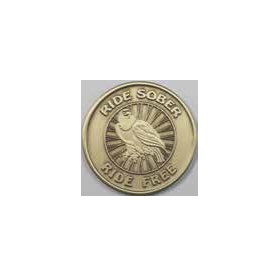 Ride Sober Ride Free Bronze AA Medallion -Roll of 25