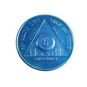 Six Month Blue AA Aluminum Token