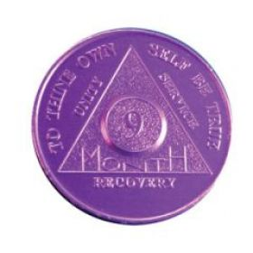 Nine Month Purple Aluminum Token
