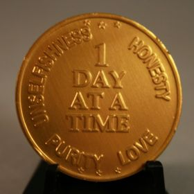One Day at a Time Sobriety Coin