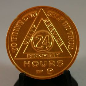 Gold Sobriety Coin 24hr