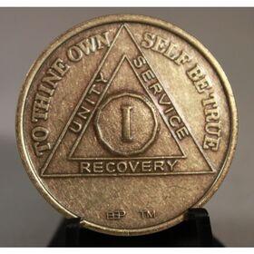 Bronze Anniversary/Birthday AA Medallions