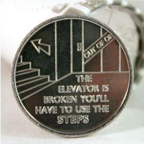 """""""The Elevator is Broken"""" Aluminum Desire Chip"""