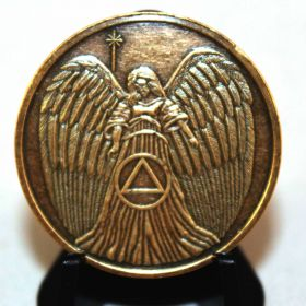 Guardian Angel AA Bronze Recovery Medallion