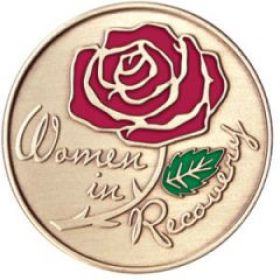 Women in Recovery Painted AA Medallion