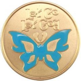 Butterfly Rainbow Premium Recovery Medallion
