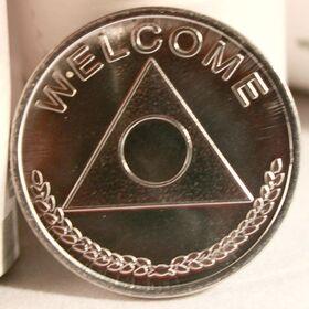 Aluminum Al-anon Medallion