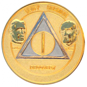 Bi-Plate Founders AA Medallion