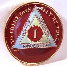 Red, Silver & Gold AA Medallion