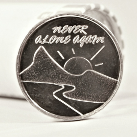 "Sunset Image ""Never Alone Again"" AA Aluminum Desire Chip"