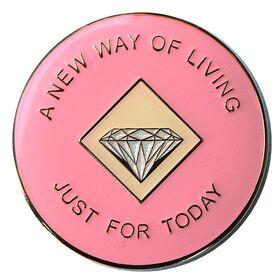 NA Pink & Cream Birthday/Anniversary Medallion