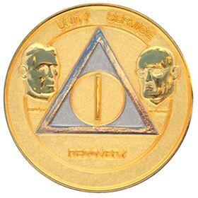 Black & Pearl Founders AA Medallion