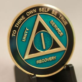 Black & Purple AA Medallion