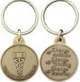 Drug Court Bronze Key Chain