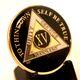 AA  Black Silver & Gold AA Medallion