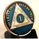 Blue Tri-Color AA Medallion